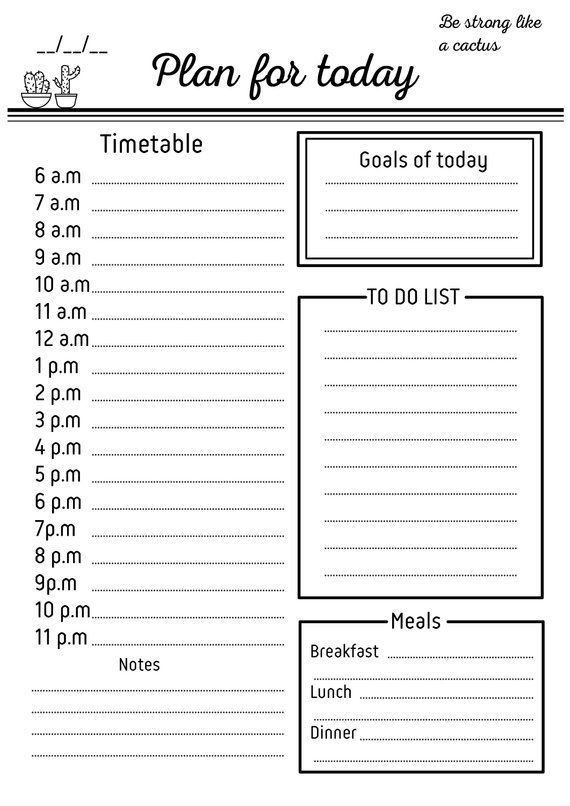 To Do List Planner Template Pin On School Hacks