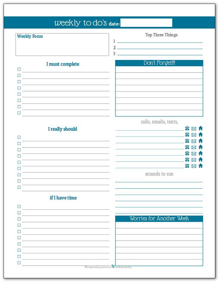 To Do List Planner Template Plan Your Week with the New Weekly to Do List Planner