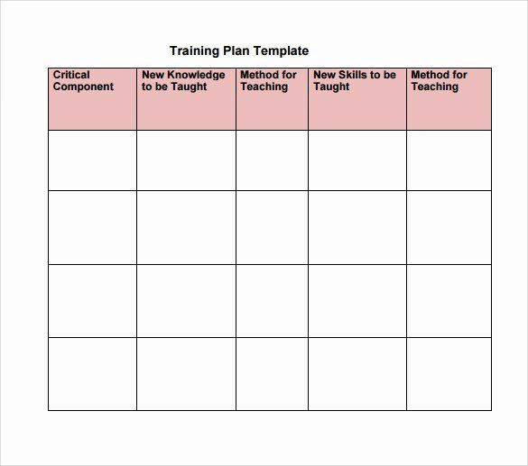 Training Plan Template Excel Training and Development Plan Example New organisational