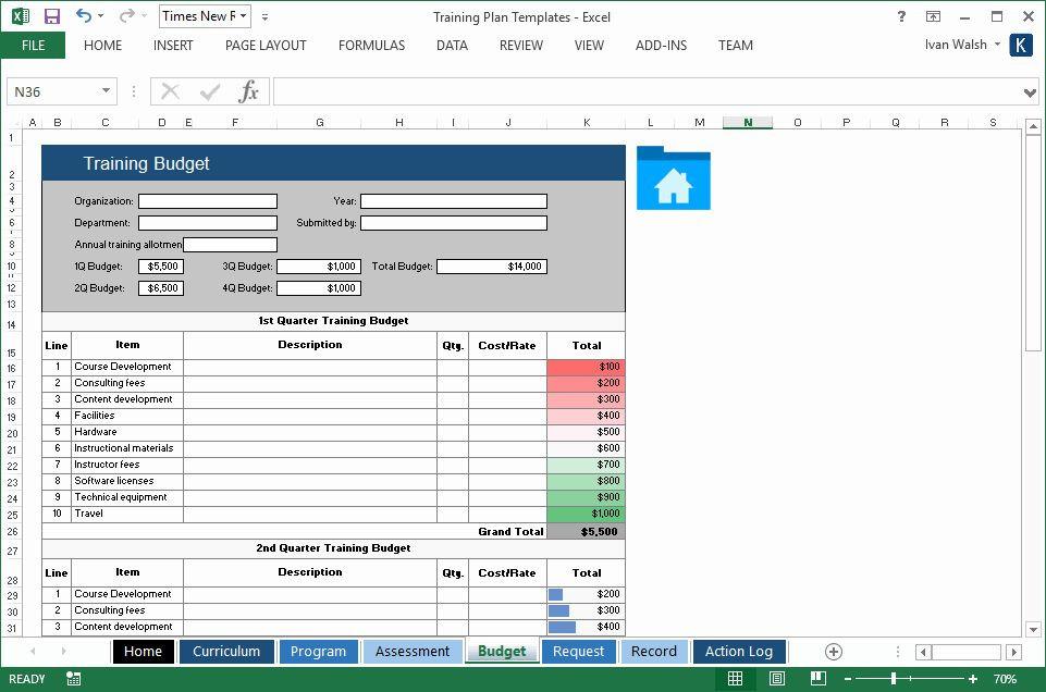Training Plan Template Excel Training Plan Template Excel Unique Training Plan Template