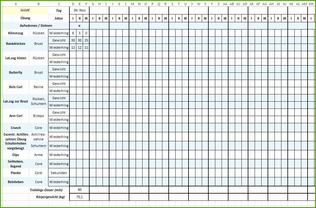 Training Plan Template Excel Trainingsplan Vorlage Excehübscher Trainingsplan Vorlage