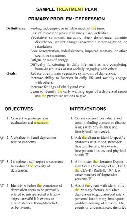 Treatment Plan Template Pin On social Work