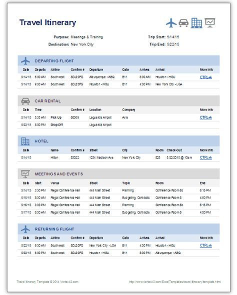 Trip Planner Template Excel Get A Free Travel Itinerary Template to Manage Travels Here