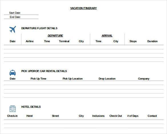 Trip Planner Template Excel Pdf Doc Excel Free & Premium Templates