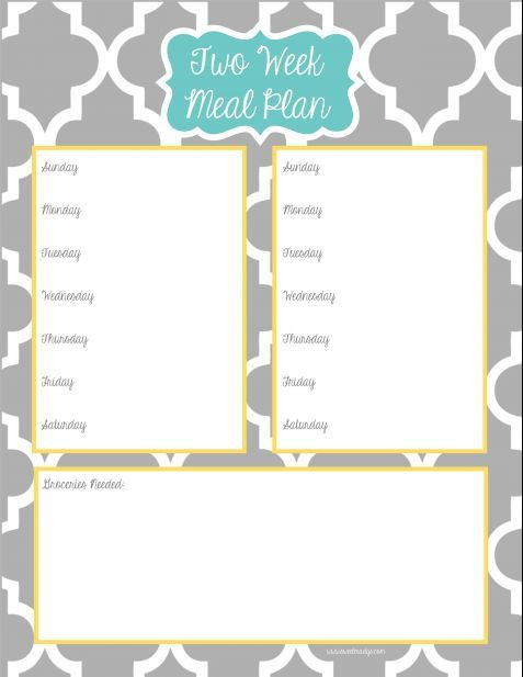 Two Week Meal Planner Template Pin On why Didn T I Think Of that