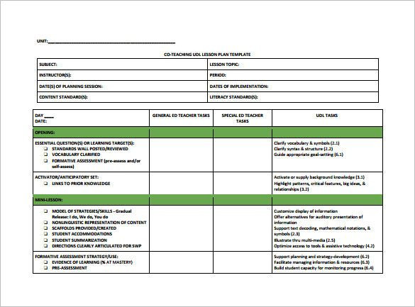 Unit Planning Template for Teachers Teacher Lesson Plan Template Pdf Best Teacher Lesson Plan