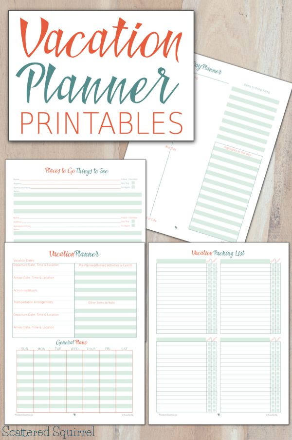 Vacation Planner Template these Vacation Planner Printables Will Help Make Planning