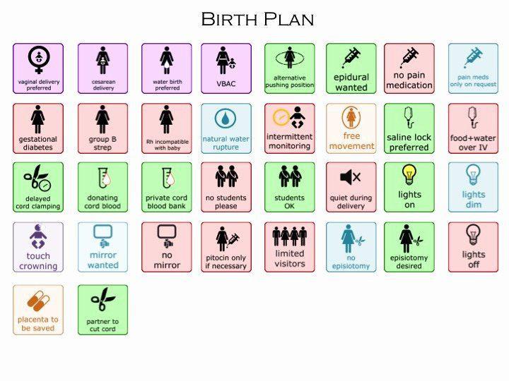 Visual Birth Plan Template Visual Birth Plan Template Beautiful Customizable Visual