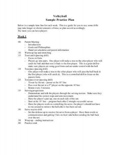 Volleyball Practice Plan Template Pin On Volleyball