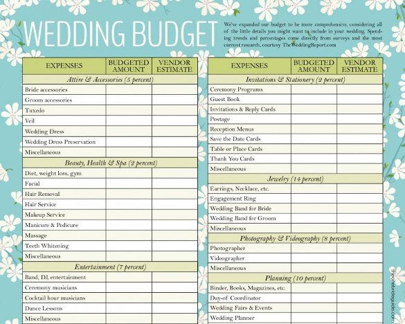 Wedding Budget Planner Template 12 Wedding Bud Templates