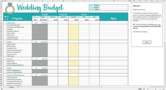 Wedding Budget Planner Template Savvy Wedding Bud Excel Template
