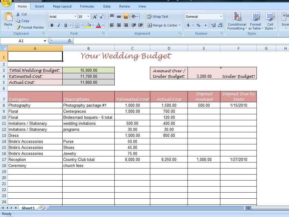 Wedding Budget Planner Template Simple Wedding Bud Worksheet Printable and Editable for