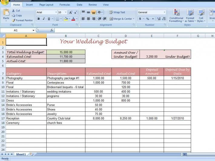 Wedding Budget Planning Template Wedding Planning Bud Template New 25 Best Wedding Bud