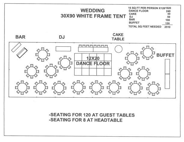 Wedding Floor Plan Template 30 X 90 Tent Layout Google Search
