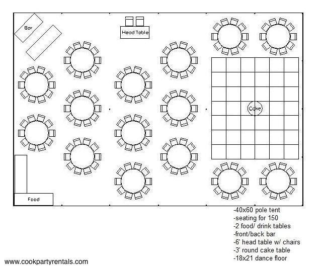 Wedding Floor Plan Template 40 X 60 Tent Layout 3 & Seating