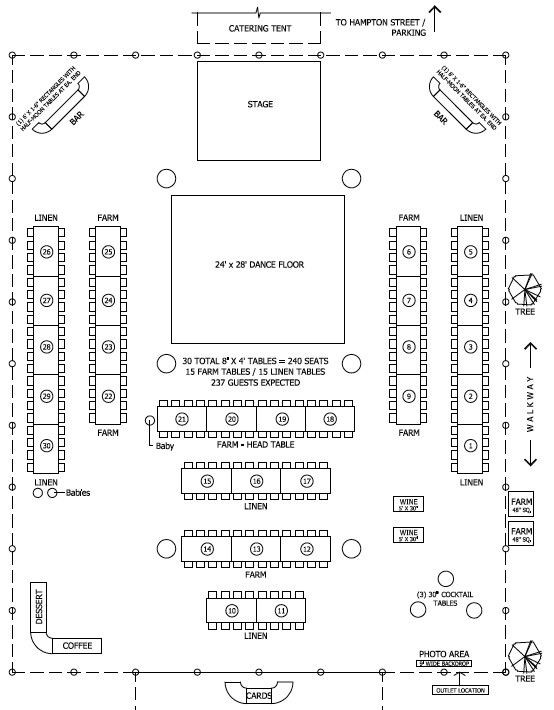 Wedding Floor Plan Template Floor Plan for Tent Barn Wedding Reception but Cake Table
