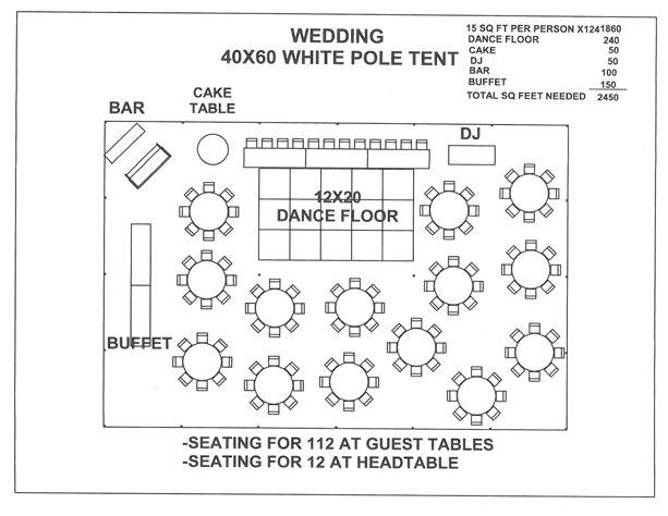 Wedding Floor Plan Template Just for A Seating Plan Layout Visual Wedding 40x60 White