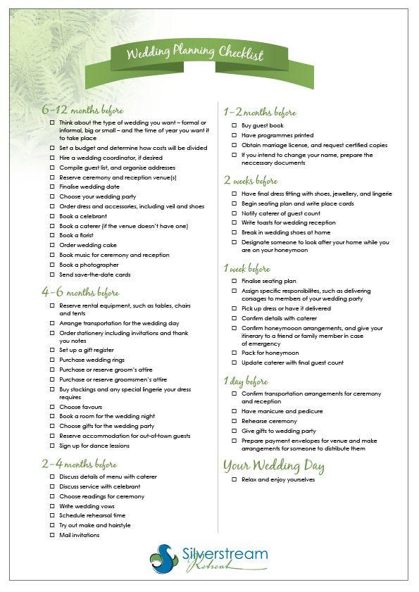 Wedding Plan Checklist Template Cool Wedding Checklist Planner Ikuzo Wedding