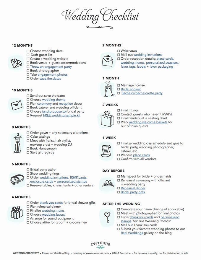 Wedding Plan Checklist Template Wedding Plan Checklist Template Lovely Free Printable