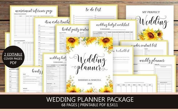 Wedding Planner Cover Page Template Pin On Wedding Planners Printables