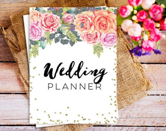 Wedding Planner Cover Page Template the Ultimate Wedding Planner Printable Wedding Planner