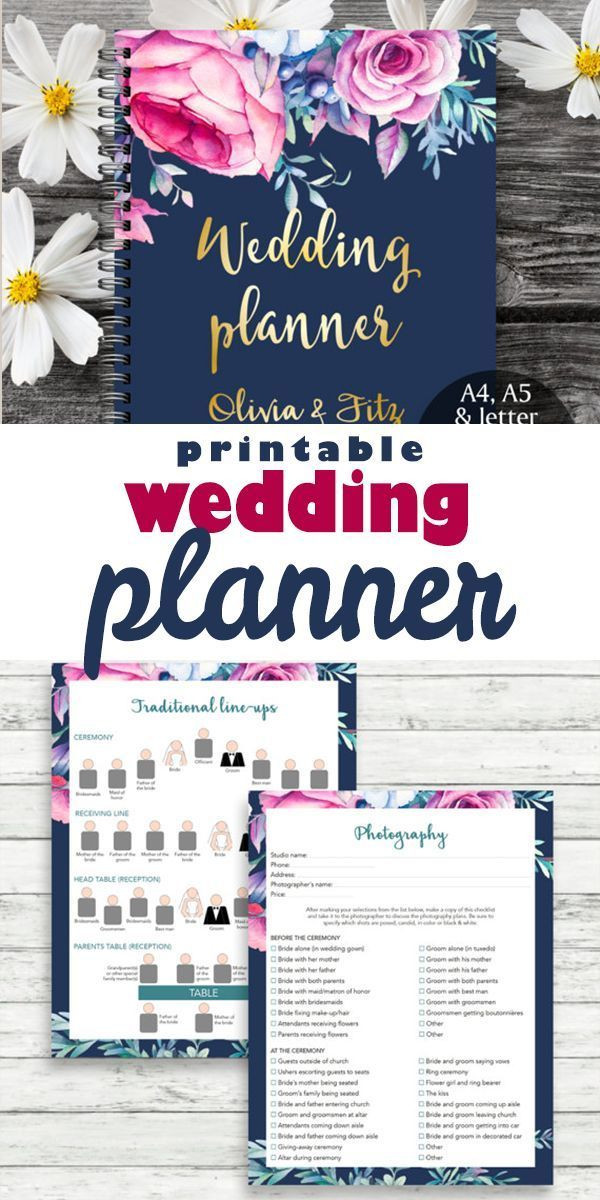 Wedding Planner Cover Page Template This is A Wedding Planner with 100 Unique Pages Including