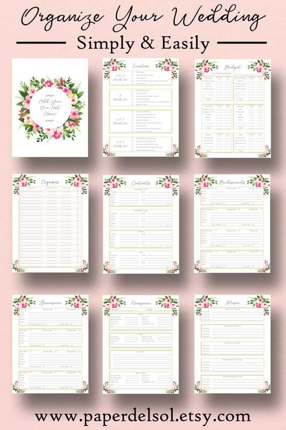 Wedding Planner Cover Page Template Wedding Planner Printable Wedding Planner Pages Do It