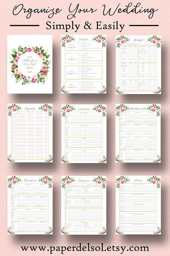 Wedding Planner Template Free Download Wedding Planner Printable Edit Wedding Planner Template Plan