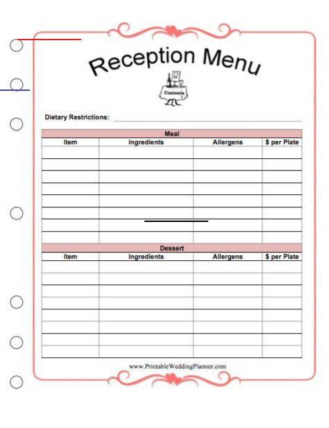 Wedding Planner Template Free Printable Wedding Planner Worksheets New Free