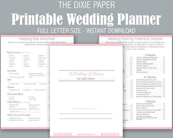 Wedding Planner Template This Item is Unavailable Etsy