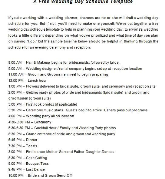 Wedding Planner Timeline Template Wedding Checklist Planning Timeline Template In 2020