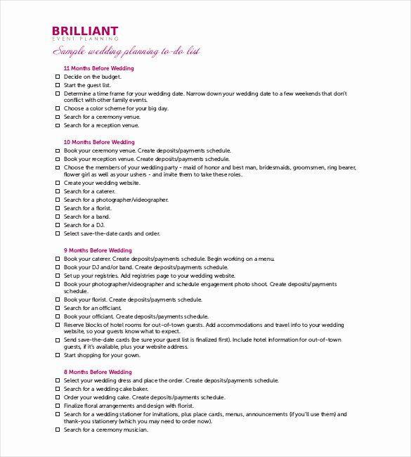 Wedding Planner Timeline Template Wedding Planner Timeline Template Awesome 32 Wedding