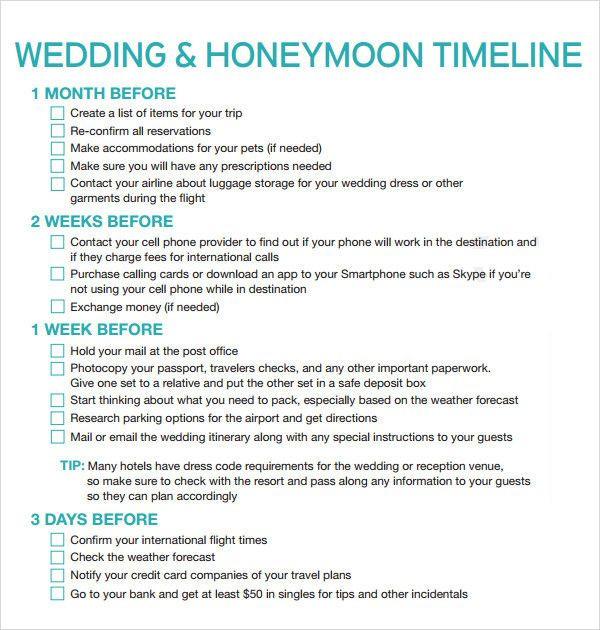 Wedding Planner Timeline Template Wedding Planner Timeline Template Luxury Free 5 Sample
