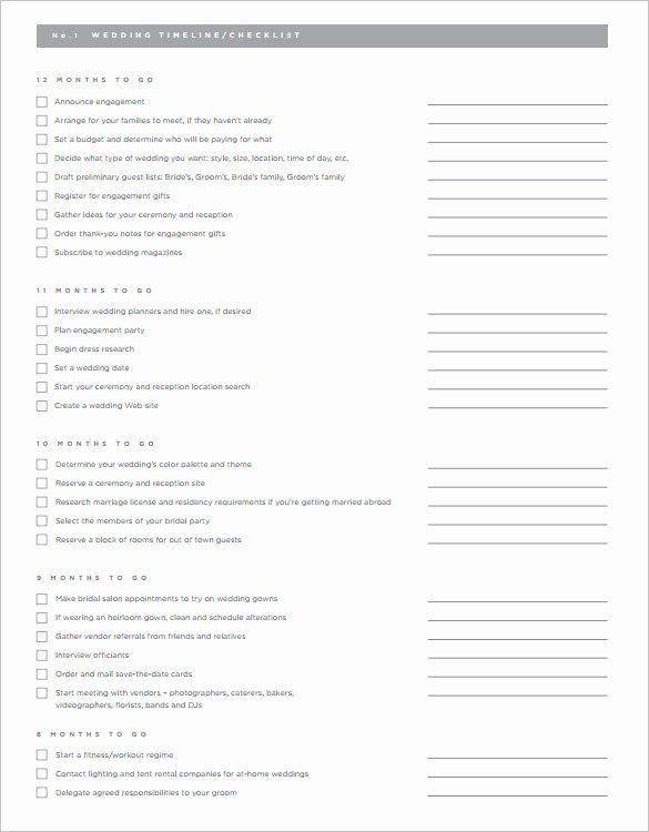 Wedding Planner Timeline Template Wedding Planning Timeline Template Inspirational 32 Wedding