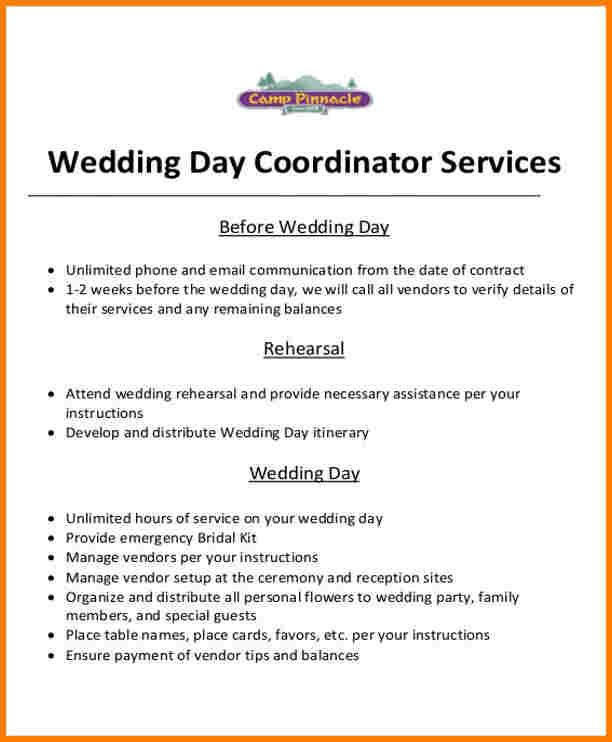 Wedding Planners Contract Template 10 event Planner Contract Template