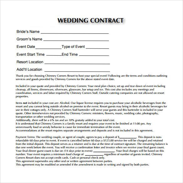 Wedding Planners Contract Template Image Result for Wedding Planner Contract form