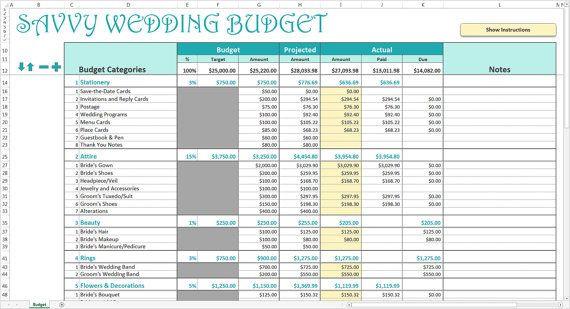 Wedding Planning Budget Template Savvy Wedding Bud Excel Template