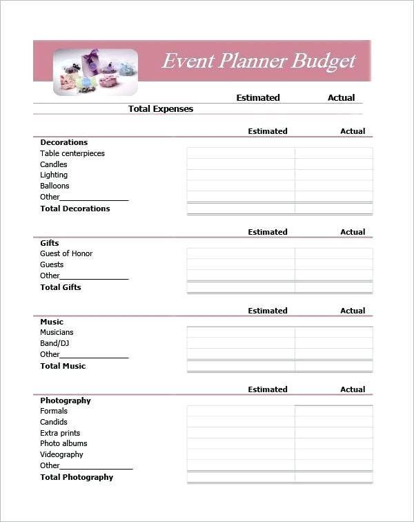 Wedding Planning Spreadsheet Template Beispiel Für Eine Excel Ereignisplanungstabelle