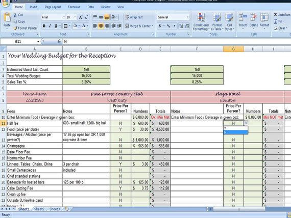 Wedding Planning Spreadsheet Template Pin by Apriska P On Blogging In 2020