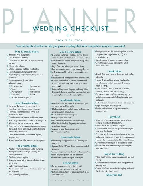 Wedding Planning Timeline Template Wedding Planner Checklist 500—649 Pixels