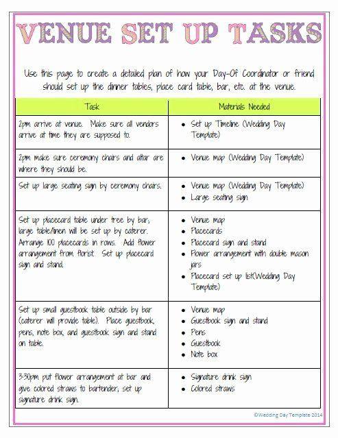 Wedding Planning Timeline Template Wedding Planning Timeline Template Luxury New Color