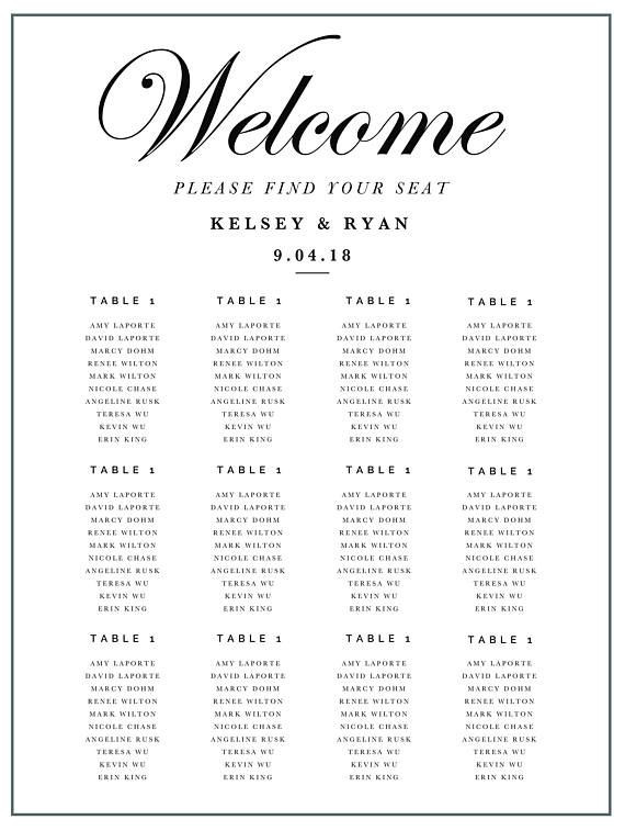 Wedding Seating Plan Template 3 Wedding Seating Chart Templates Editable Wedding Table
