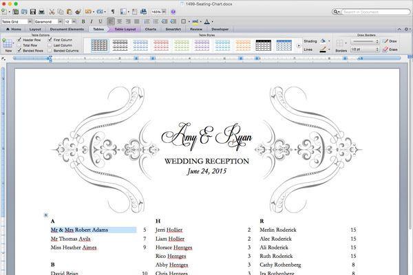 Wedding Seating Plan Template Free Printable Wedding Reception Templates