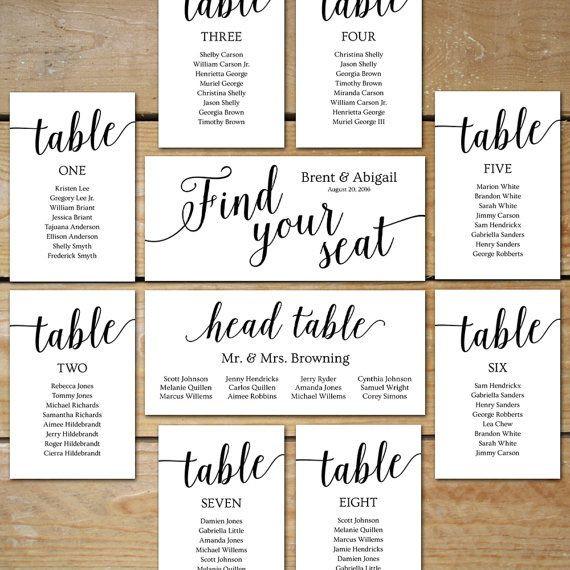 Wedding Seating Plan Template Seating Chart Wedding Template Wedding Seating Chart Cards