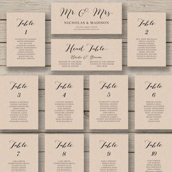 Wedding Seating Plan Template Wedding Seating Chart Template Printable Seating Chart