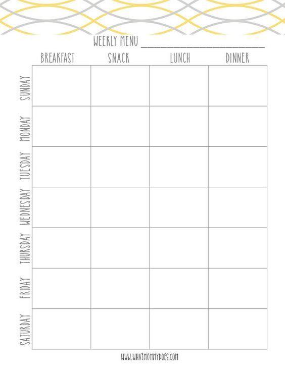 Weekly Dinner Menu Planner Template Free Printable Weekly Meal Planning Templates and A Week S