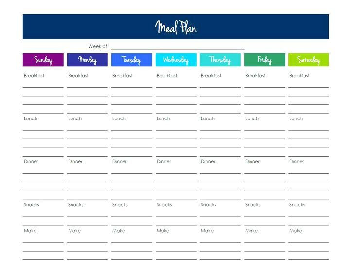Weekly Food Planner Template Pin On Explained Food & Drink