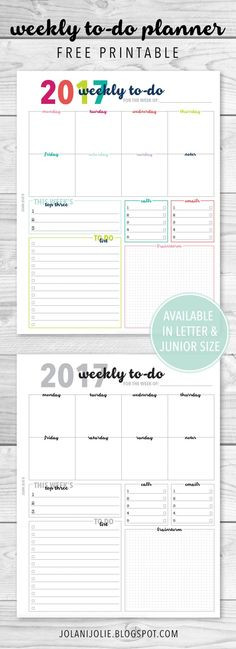 Weekly Planner 2016 Template 500 Printable Planner Ideas