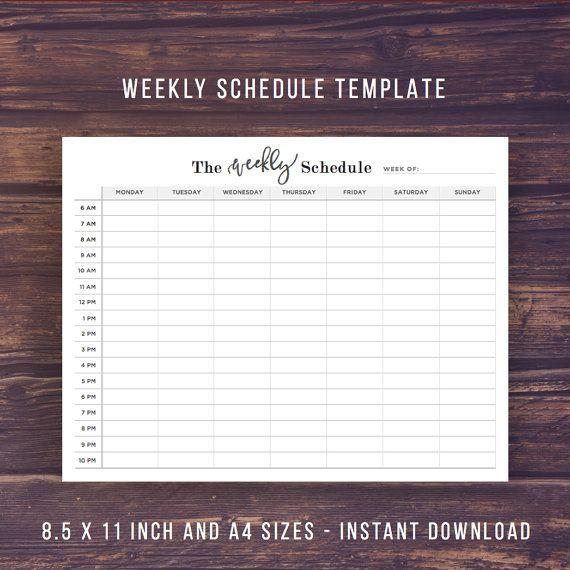 Weekly Planner 2016 Template Weekly Schedule Printable Weekly Planner 2016 Weekly