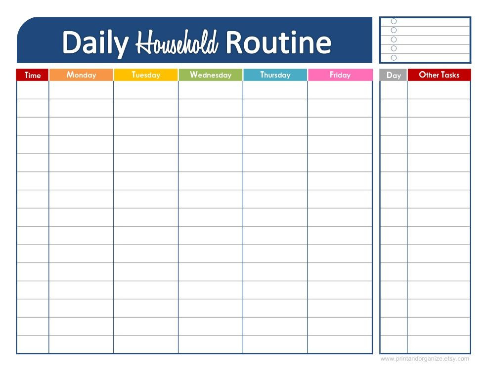 Weekly Planner Template for Kids 46 Of the Best Printable Daily Planner Templates